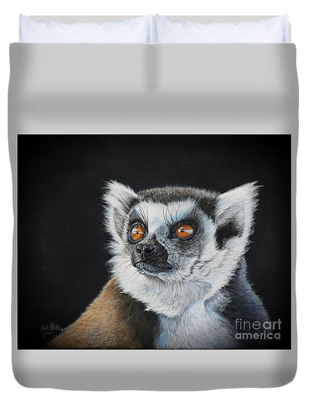 Amber Eyes......lemur Duvet Cover
