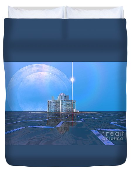 Ambient Flow Duvet Cover by Corey Ford