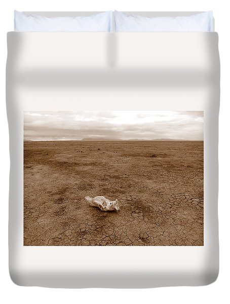 Amboseli Lake Duvet Cover