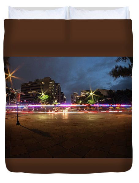 Ambulance Drive By Duvet Cover