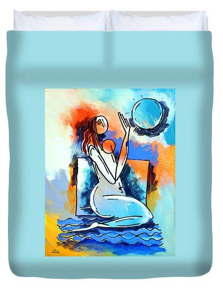 Ameeba- Nude Woman On Beach 5 Duvet Cover
