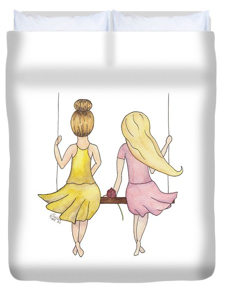 Amelia And Lillian Duvet Cover