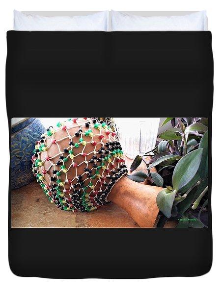 Amen Ankh Hand Made Shakere Duvet Cover