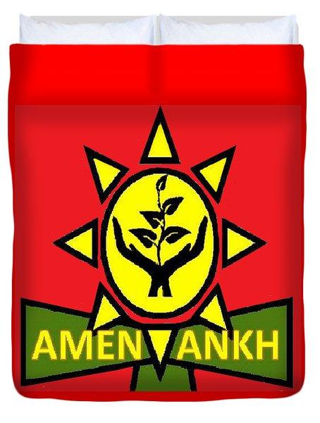 Amen Ankh Sunset Duvet Cover