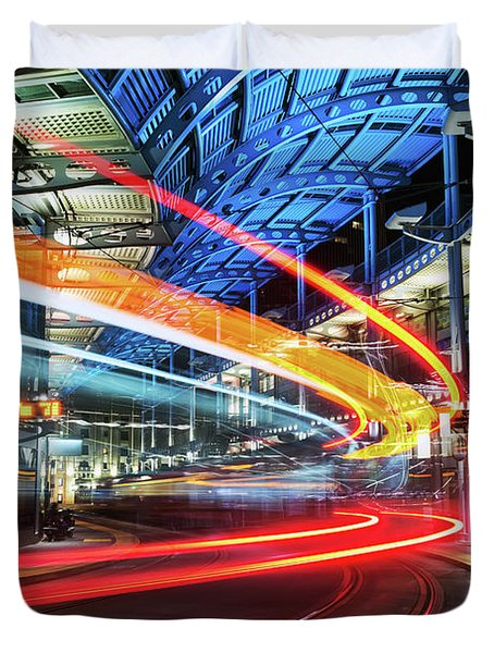 America Plaza Station Duvet Cover