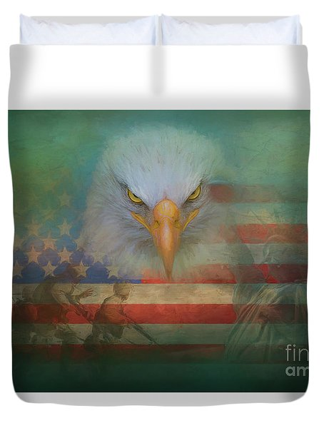 America The Great Duvet Cover