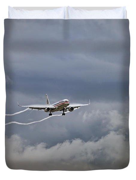 American Aircraft Landing Duvet Cover