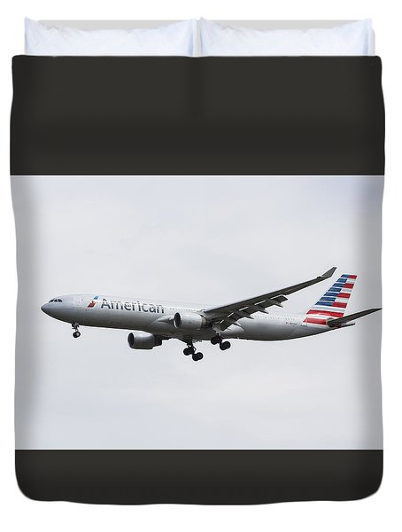 American Airlines Airbus A330 Duvet Cover