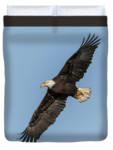 Duvet Cover featuring the photograph American Bald Eagle 2017-13 by Thomas Young