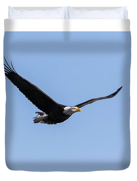 Duvet Cover featuring the photograph American Bald Eagle 2017-7 by Thomas Young