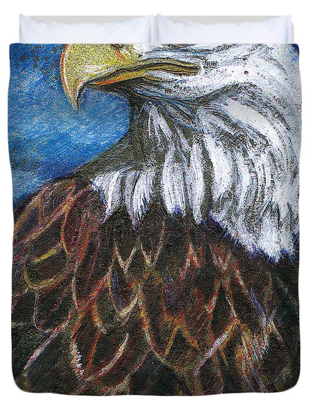 American Bald Eagle Duvet Cover by John Keaton