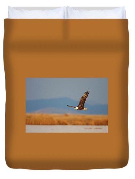 American Bald Eagle Duvet Cover by Ram Vasudev