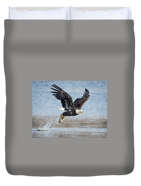American Bald Eagle Taking Off Duvet Cover