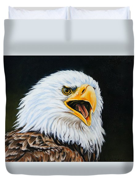 American Bald Eagle Duvet Cover