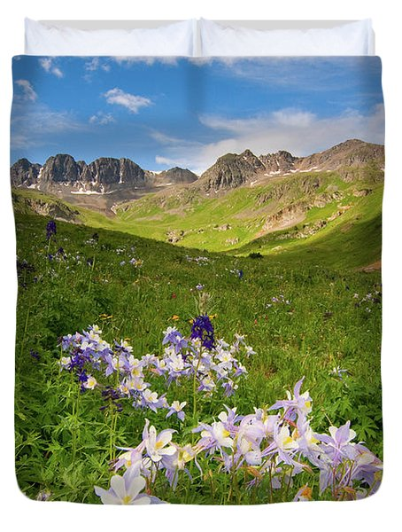 Duvet Cover featuring the photograph American Basin by Steve Stuller