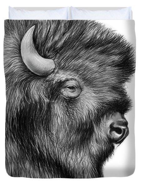 American Bison Duvet Cover by Greg Joens