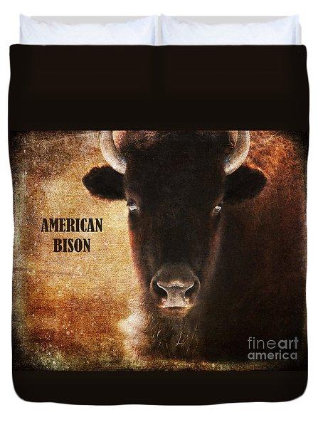 American Bison Duvet Cover by Olivia Hardwicke