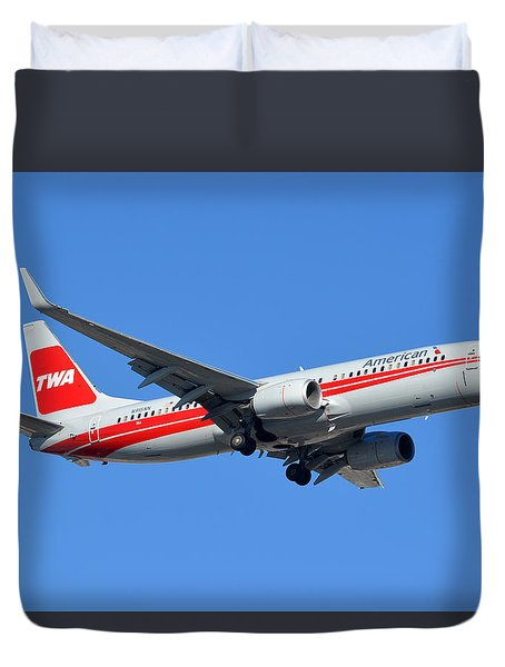 American Boeing 737-823 N915nn Phoenix Sky Harbor January 11 2015 Duvet Cover