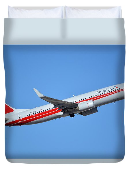 American Boeing 737-823 N915nn Retro Twa Phoenix Sky Harbor January 12 2015 Duvet Cover by Brian Lockett
