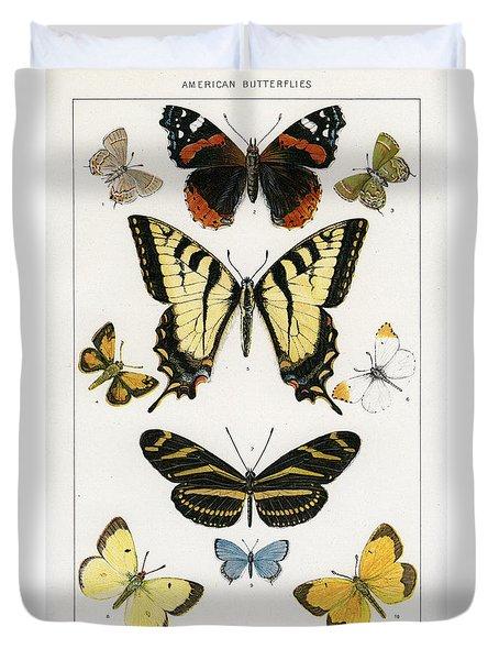 American Butterflies Duvet Cover