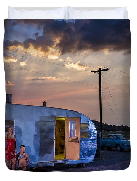 American Dreamscapes  Highway 97 IIi Duvet Cover