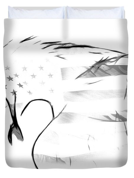 American Eagle Black And White Duvet Cover
