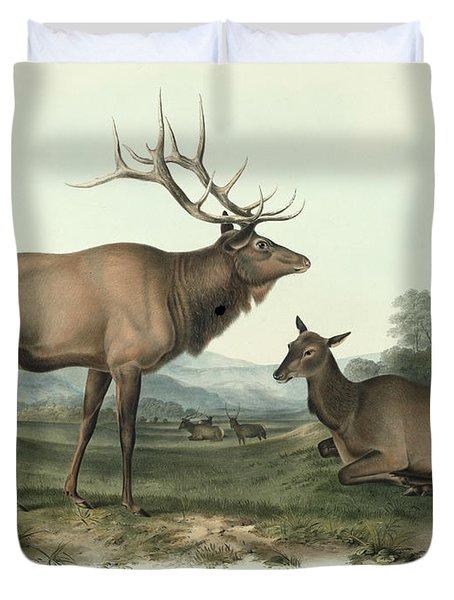 American Elk Duvet Cover