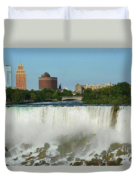 American Falls With Bridal Veil Duvet Cover