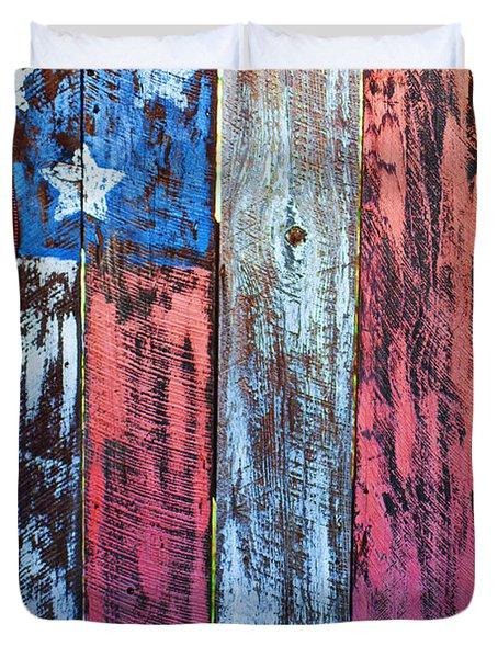 American Flag Gate Duvet Cover