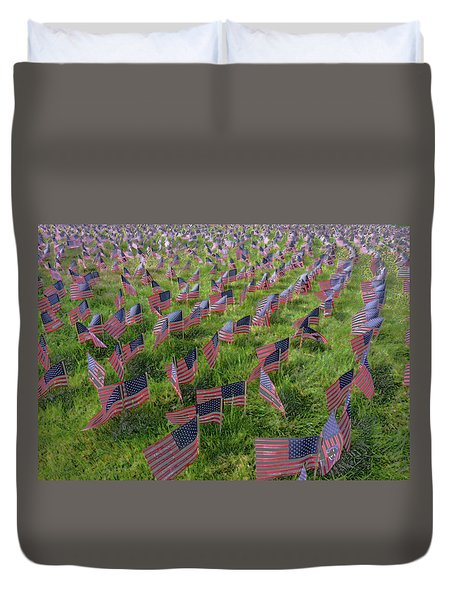 American Flags Duvet Cover