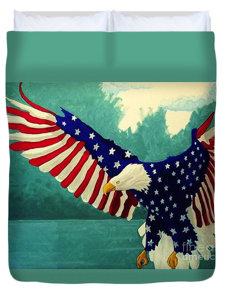American Glory Duvet Cover by Kyle  Brock