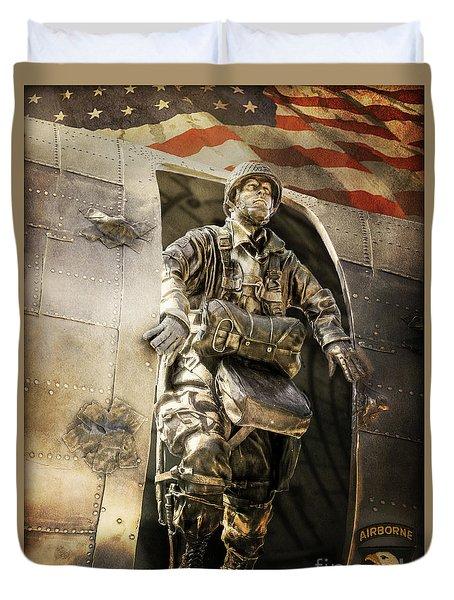 American Hero Duvet Cover