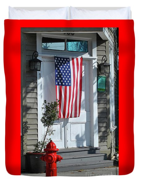 Duvet Cover featuring the photograph American Hydrant by Jost Houk