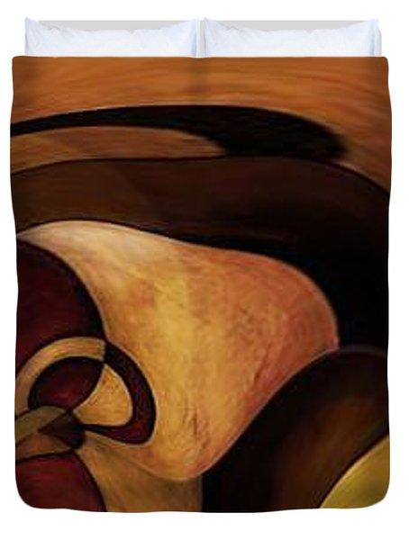 American Indian Girl Duvet Cover by Jill English