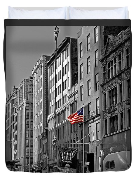 American Iron Worker Duvet Cover