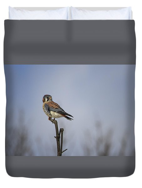 American Kestrel Duvet Cover by Gary Hall