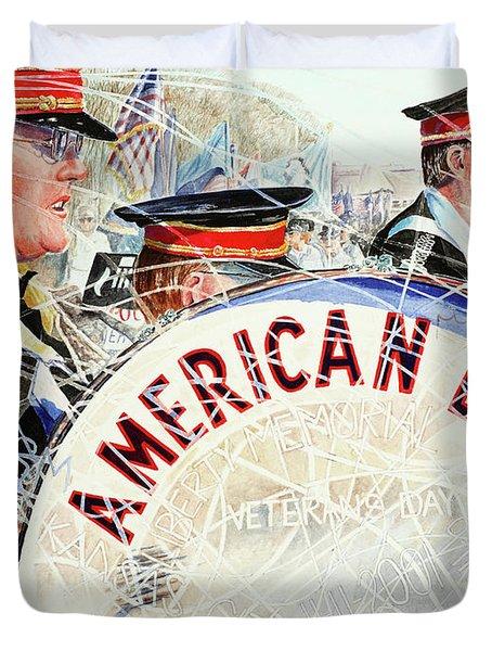 American Legion Duvet Cover by Carolyn Coffey Wallace