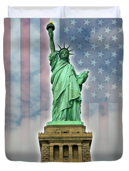 American Liberty Duvet Cover by Timothy Lowry