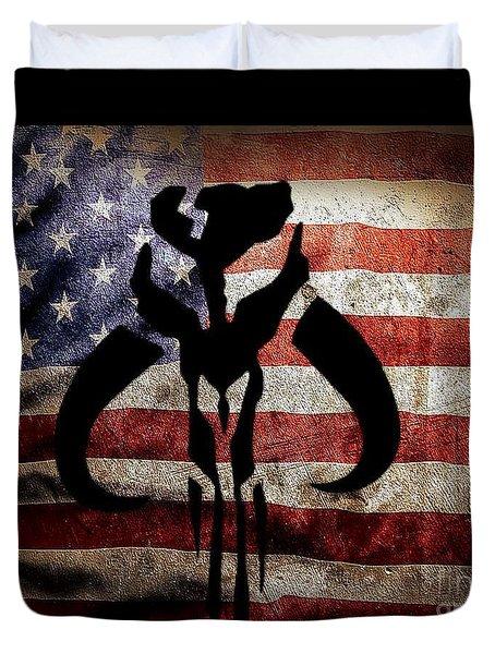 American Mandalorian Duvet Cover
