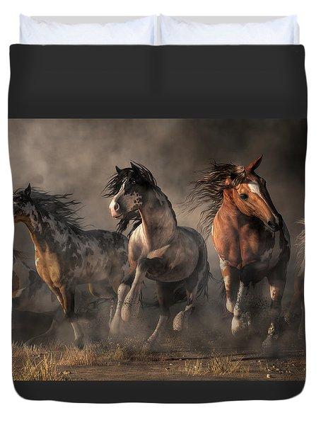 American Paint Horses Duvet Cover