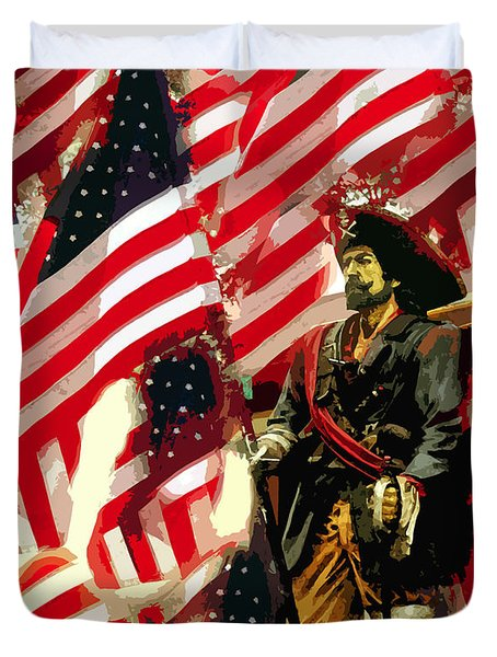 American Pirate Duvet Cover by David Lee Thompson