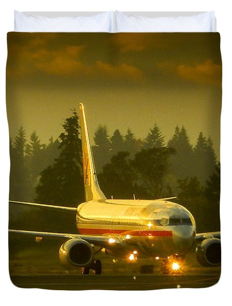 American Ready For Take-off Duvet Cover