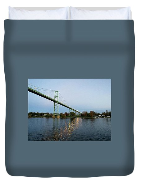 American Span Thousand Islands Bridge Duvet Cover