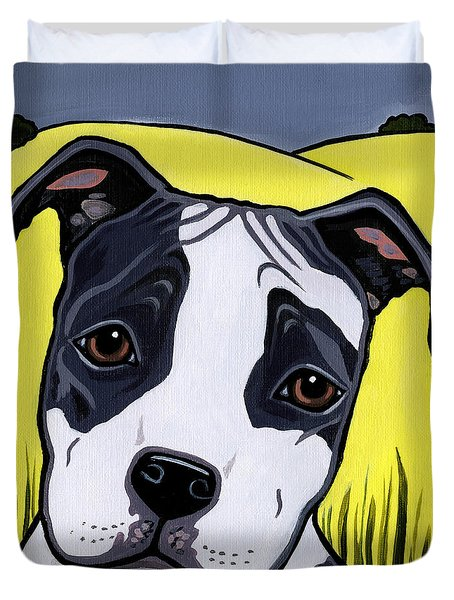 American Staffy Duvet Cover by Leanne Wilkes