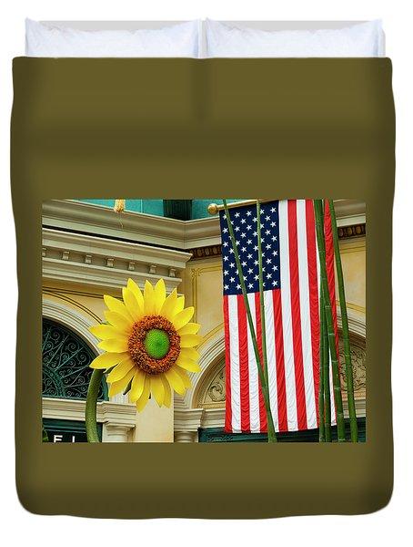 American Sunflower Duvet Cover by Rae Tucker