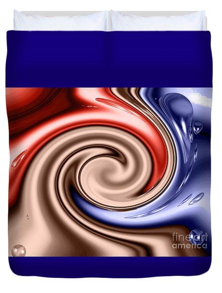 American Turmoil Duvet Cover