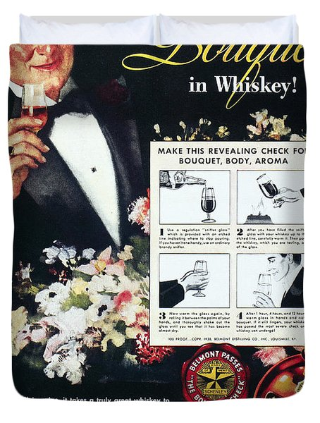 American Whiskey Ad, 1938 Duvet Cover by Granger