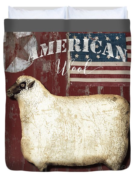 American Wool Duvet Cover by Mindy Sommers
