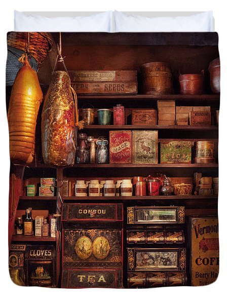 Americana - Store - The Local Grocers  Duvet Cover by Mike Savad