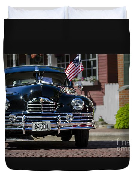 Duvet Cover featuring the photograph Americana by Andrea Silies